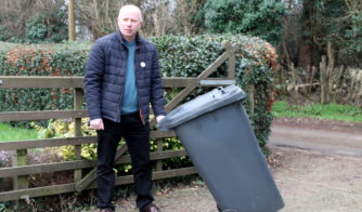 Mike Sole with his wheelie bin